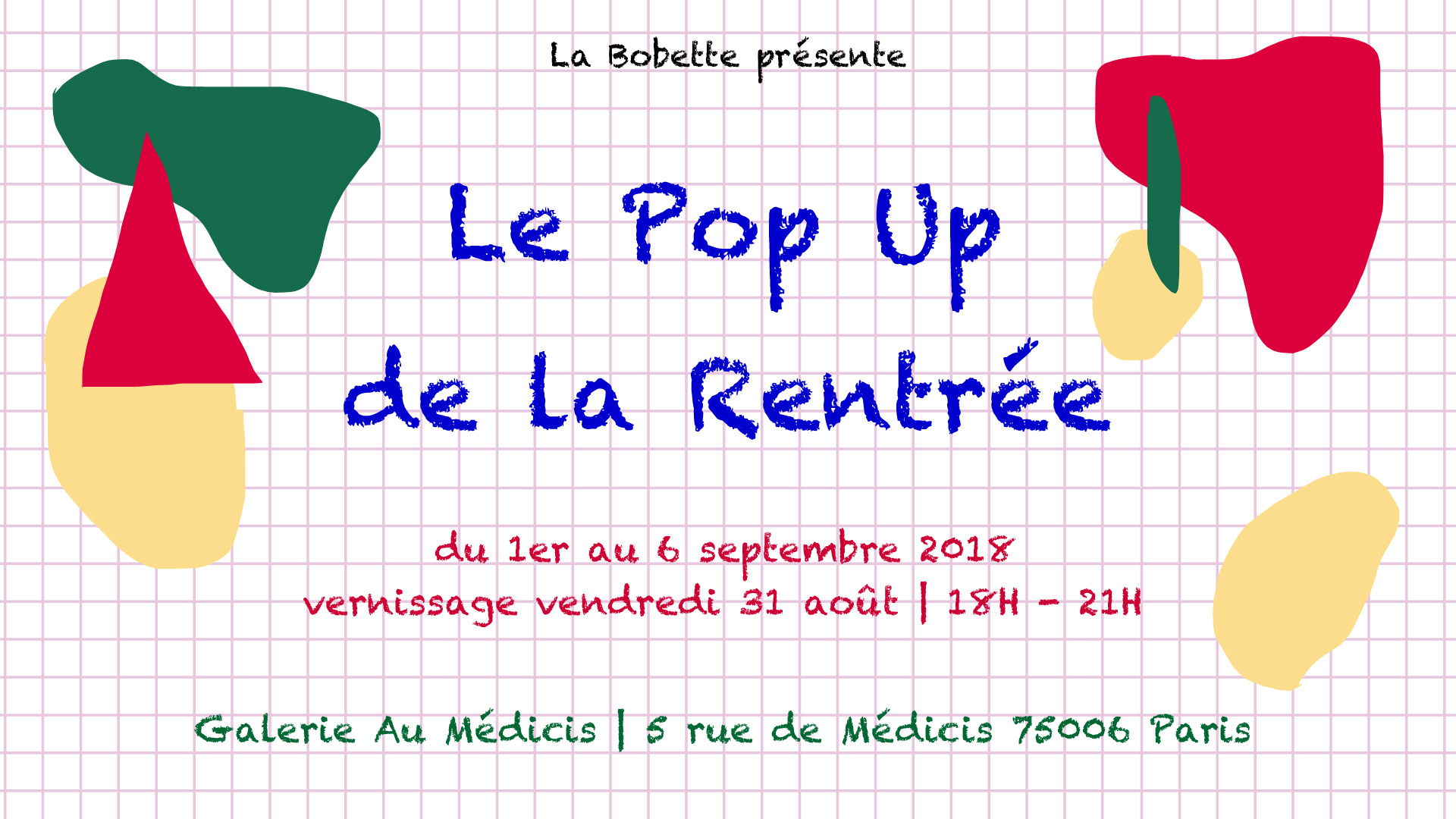Affiche pop up de la rentrée